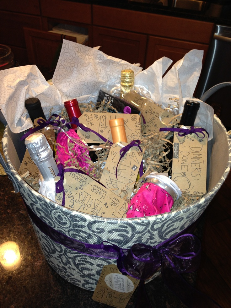 Bachelorette Party Gift Basket of