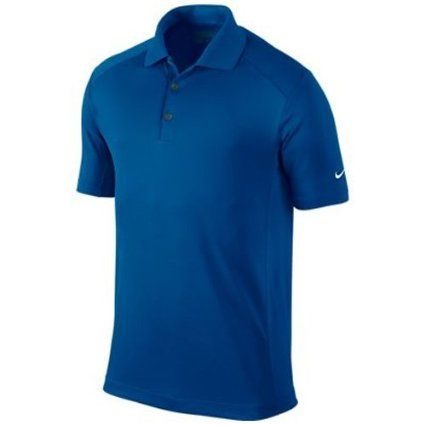 Made from 100% polyester this mens dri-fit victory golf polo shirt by Nike will help you stay dry and comfortable as well as protect you from harmful UV rays