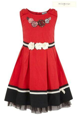 Buy Uttam Kids Plain Bow Dress (3-10yrs) from the Next UK online shop