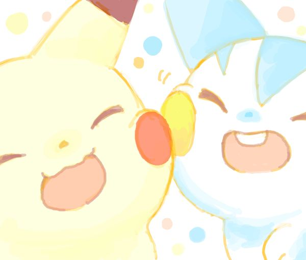 Pikachu, Pachirisu (by polkadot, drawr)