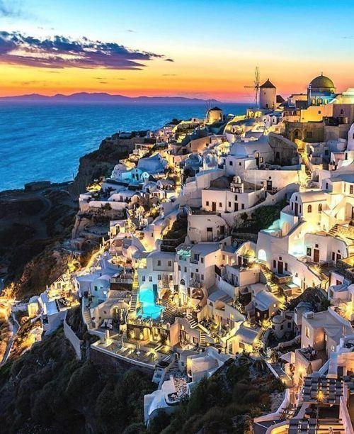 Santorini Greece Photo by@kyrenian  Find cheap flights...