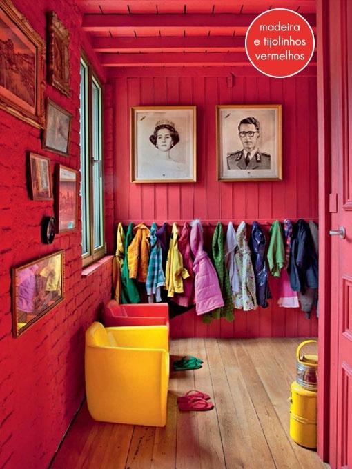 all red closet + bricks