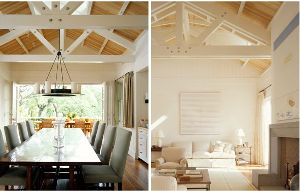 Farm House Homes Pinterest Wood Ceiling Beams Cedar