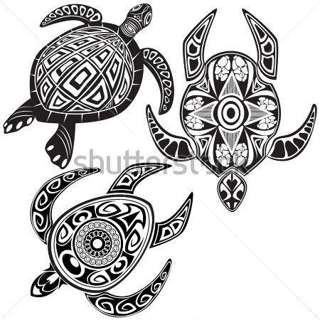 ベクトル イラストのカメ マオリのタトゥー スタイル クリップ アート - ClipartLogo.com
