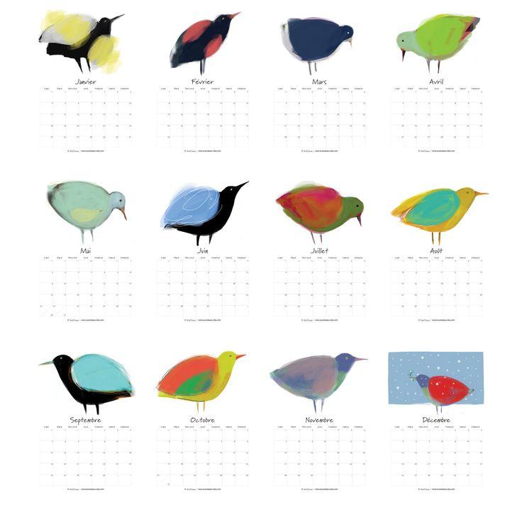 Le chouchou de ma boutique https://www.etsy.com/ca-fr/listing/260256591/calendrier-des-oiseaux-2016-a