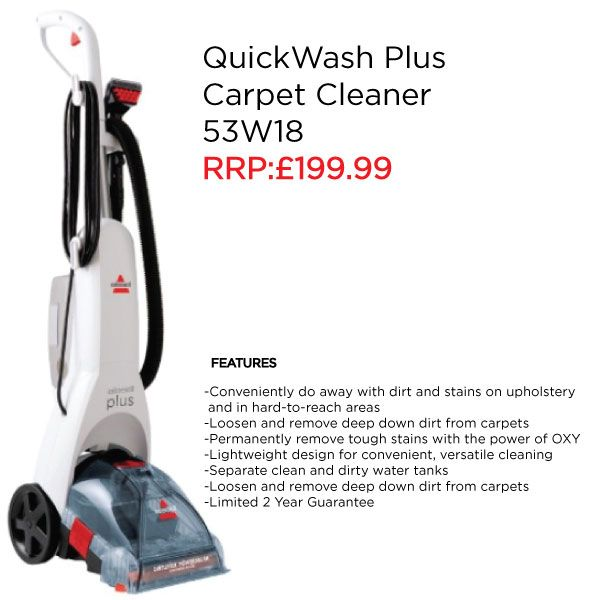Clean Dirt On Your Carpets, Stairs U0026 Upholstery With The BISSELL QuickWash™  Plus Carpet Cleaner And Permanently Remove Stains With The Power Of OXY.