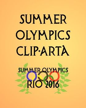 This clip art set is perfect for a unit or activity with a Summer Olympics theme. This zip file contains:-over 300 PNG clip art files (wow!)-the classic Olympic ring logo-logos of each of the Summer Olympic events-flags of the countries expected to medal in the 2016 Rio Olympics-gold, silver, and bronze medals - in color and with metallic textures-olive branches-classic torches and Olympic flames, as well as the 2016 Rio torch-word art for the Rio 2016 Olympics-all pieces of clipart come in…