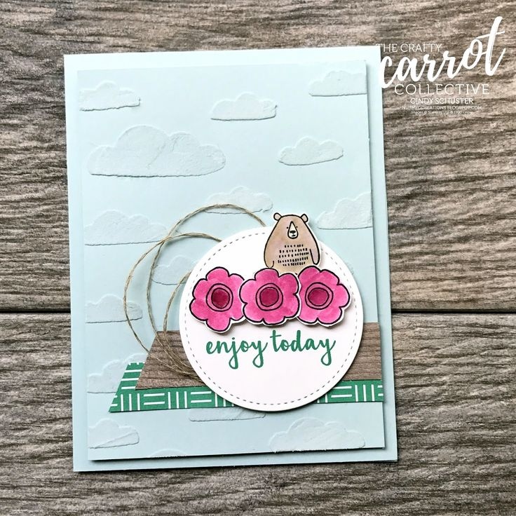 Just love the little bear from the  Pieces and Patterns stamp set!
