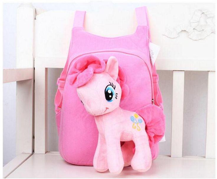 3D my little pony backpack for girls Kids School bag Child Plush Backpacks Baby Schoolbag Cartoon Kids Satchel Mochila Infantil