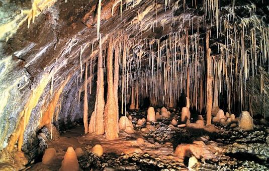 이곳은 제주도의 용암동굴이다. 일반 석회동굴이라 생각할 수 있지만 이곳은 지하수의 용해에 의한 것이 아니라, 용암이 지나가고 남은 터널이다. 종유석이나 석순같은 것은 같은 원리로 형성된다. 또한 이곳은 천연기념물로 채택되어 있다.