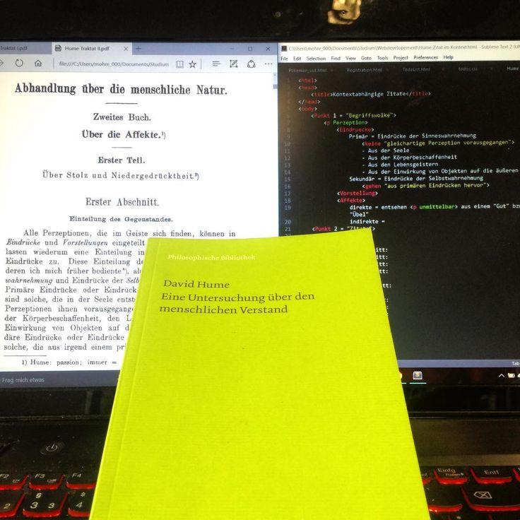 This is how to learn Philosophy #philosophy #study #html #javascript #zweckentfremdung #von #codingprogrammen #pdf #reader #meiner #felixmeinerverlag #david #hume #davidhume #humanunderstanding #treatiseofhumannature #lifestyle #homeoffice #lmu #münchen #Studium #munich #coding #nerdy #stuff #lenovo #laptop