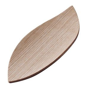 木の素材感となめらかな曲線が美しいおしぼりトレー5枚セット。【オシボリセット木の葉 ナチュラル 5P】