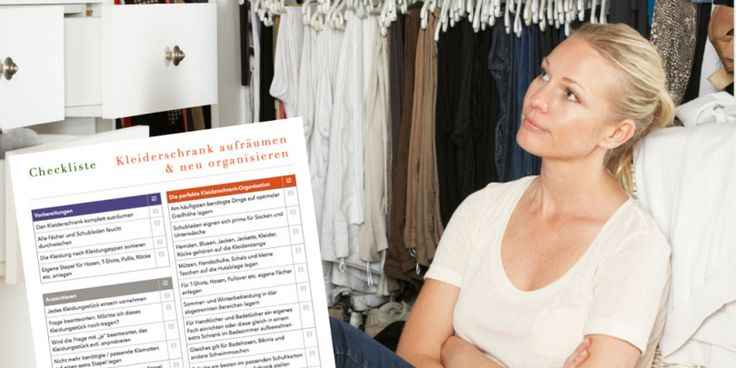 Popular Checkliste Kleiderschrank aufr umen u neu organisieren Checkliste Aufr umen und Kleiderschr nke