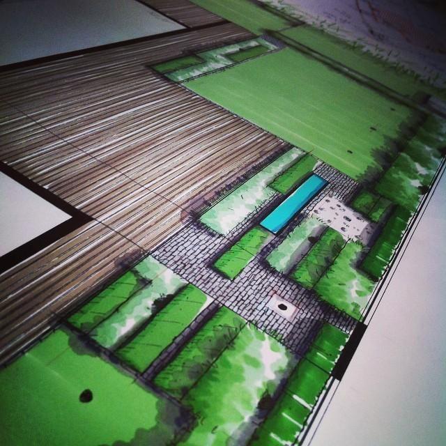 plan pour un jardin contemporain markers paysagiste