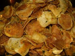 Homade sea salt and vinegar chips. I want to try to make them like kettle chips.