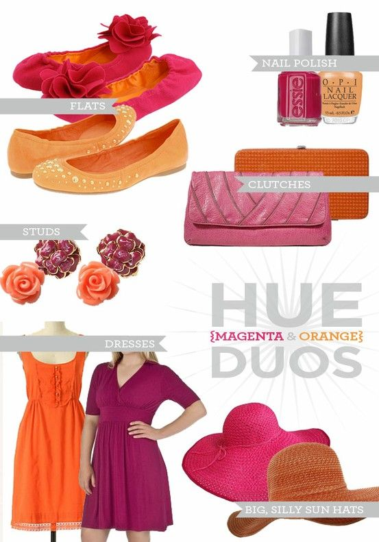 Purple dresses with pink and orange shoes clutches for Pink and orange wedding dresses
