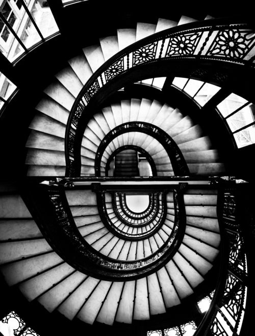 stairsSpirals Staircases, Spirals Stairs, Nick Gerber, Black And White,  Helix, Spiral Stairs, Visual Art, Spiral Staircases,  Spirals