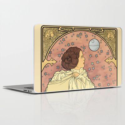 La Dauphine Aux Alderaan Laptop & iPad Skin by Karen Hallion Illustrations - $30.00