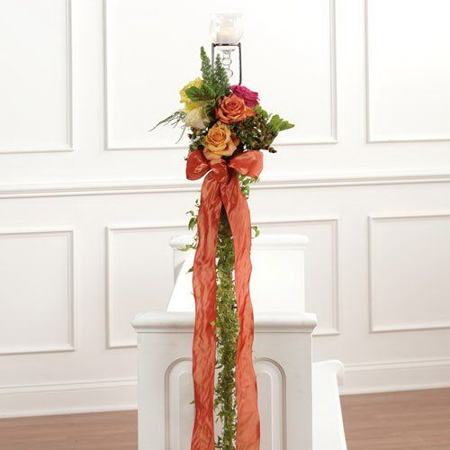 Simple Wedding Church Pew Decorations: 17 Best Images About Church Weddings On Pinterest