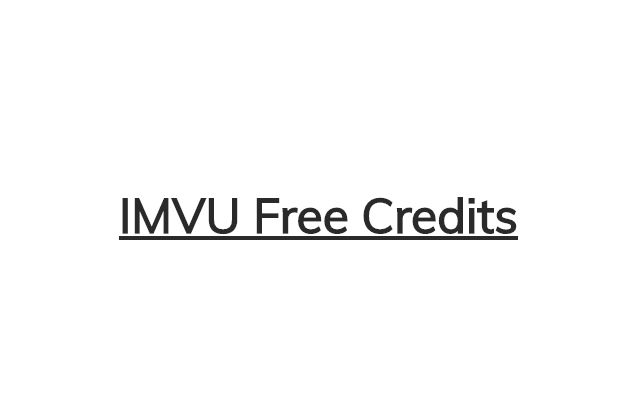 IMVU Free Credits 2017 | Hacks, Cheats and Tips | IMVU Credits Generator