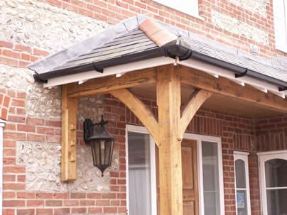 timber porch  roofed