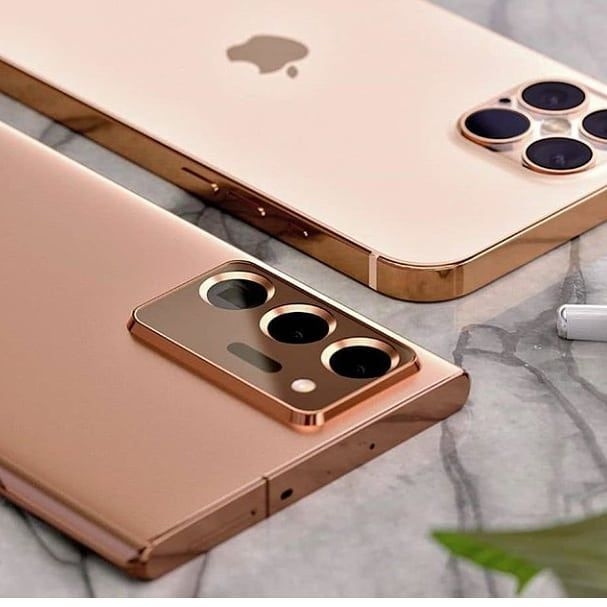 Iphone 12 Pro Vs Samsung Galaxy S20 Ultra In 2020 Iphone Gold Iphone Concept Phones