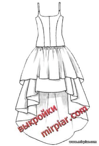 маллет, free pattern, ПЛАТЬЯ, платье маллет, dresses, юбка маллет, мода, pattern sewing, выкройки платьев, юбка укороченная спереди, выкройки скачать, выкройка, шитье, выкройки бесплатно, готовые выкройки