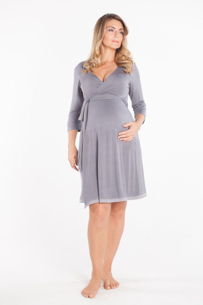 This versatile stylish wrap dress can be used for lounging before or after birth or even during labour! If you don't fancy wearing a hospital gown during your labour, then why not wear this? The wrap style means there is easy for access for monitoring during labour and opens up easily and quickly at the front for that all important skin-to-skin contact with your newborn in the moments following birth. Breastfeeding access makes this a comfortable and stylish choice for after the birth too…