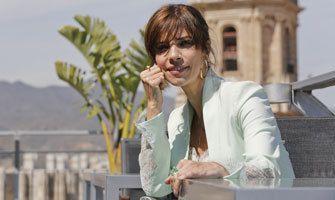 La actriz Maribel Verdú en la terraza del AC Hotel Málaga Palacio by Marriott