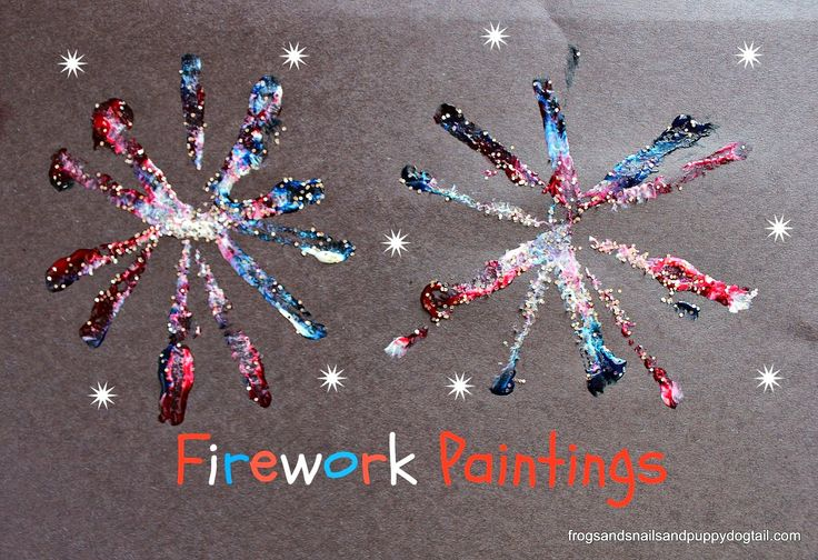Firework Paintings by FSPDT ~ fun for memorial day or 4th of July crafts for kids