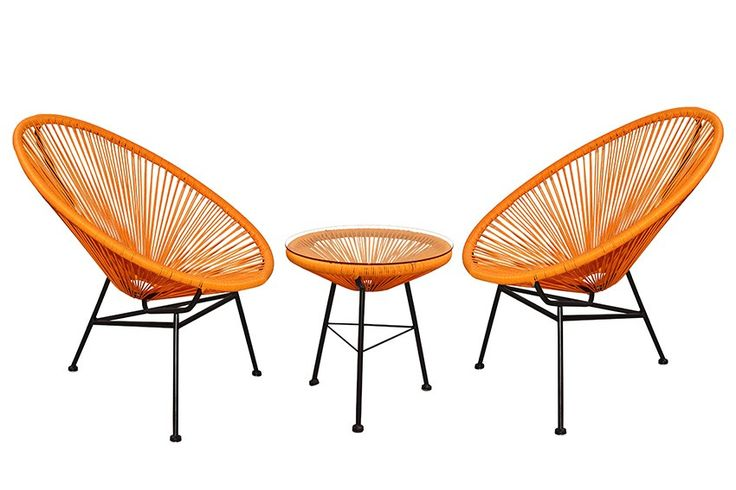 Replica Acapulco Lounge Chair Setting - Burnt Orange - Ideal for your casual patio or outdoor decking area are these ultra modern and hip replica Acapulco Settings. Our replica Acapulco settings are Mexican inspired and are one of our biggest selling ranges this year. Our Replica Acapulco Chairs and Side Tables are made from powder coated steel thats been hand welded and then woven by hand using UV stable Poly Wicker. Our side table also come with a tempered glass top which is perfect for…