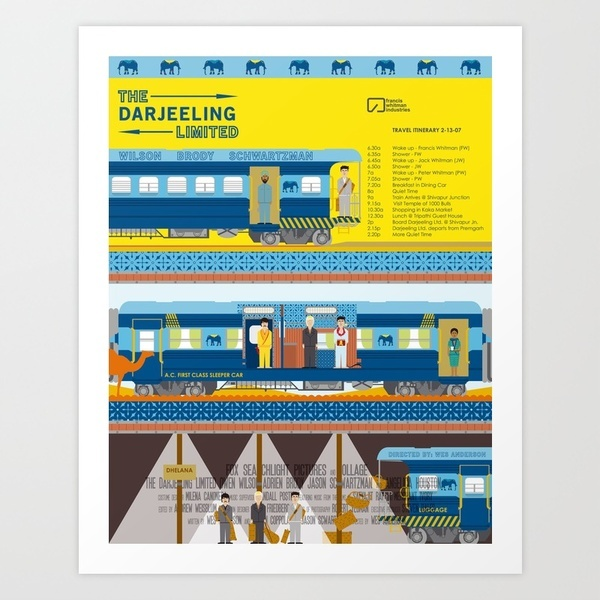 The Darjeeling Limited Art Print by Alan Segama | Society6: Quality Art, Products Avail, Wes Anderson, Website, The Darjeeling Limited, Art Prints, Internet Site, Limited Art, Alan Segama