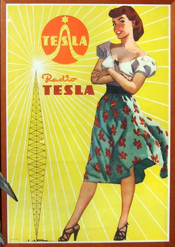 Czechoslovakia,Tesla Plakat