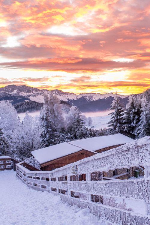 December sunrise at Cheile Gradistei resort Fundata, Brasov, Romania (by Catalin Caciuc on 500px)