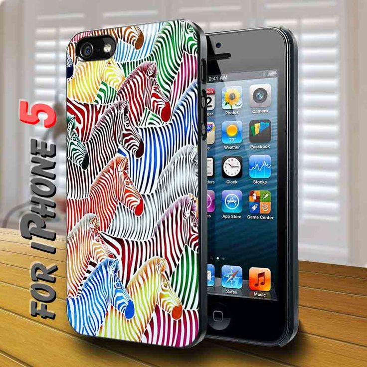 colorfull horse Black Case for iphone 5