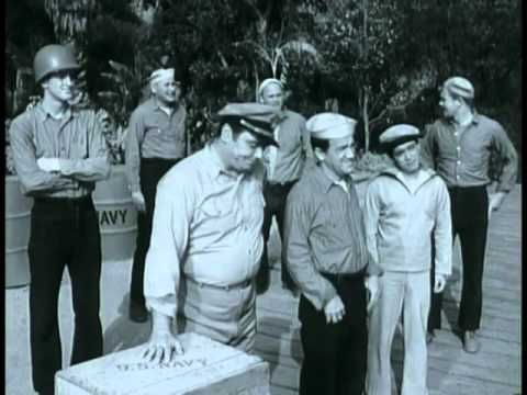 Watched some reruns of this when I was young, Ernest Bourgnine plays in this.....McHales Navy - Ensign Gets A Zero