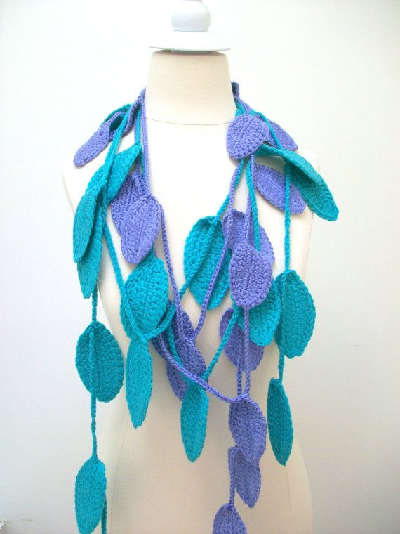 Handmade  2012 Fashion leaf scarf by PIPPADUSHES on Etsy, $29.00