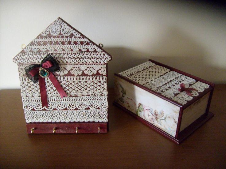 çay kutusu ve anahtarlık/tea box and key holder