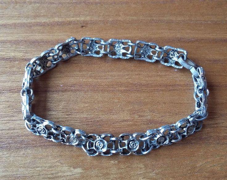 Vintage Finland Pewter Bracelet Design Tapani Vanhatalo 1970´s Scandinavia #Vanhatalo #Modern