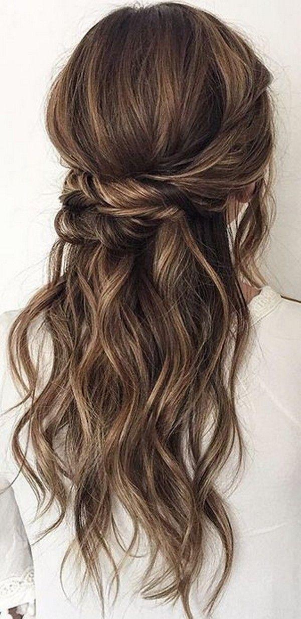 Top 20 Half Up Half Down Wedding Hairstyles for 2018/2019   Wedding ...