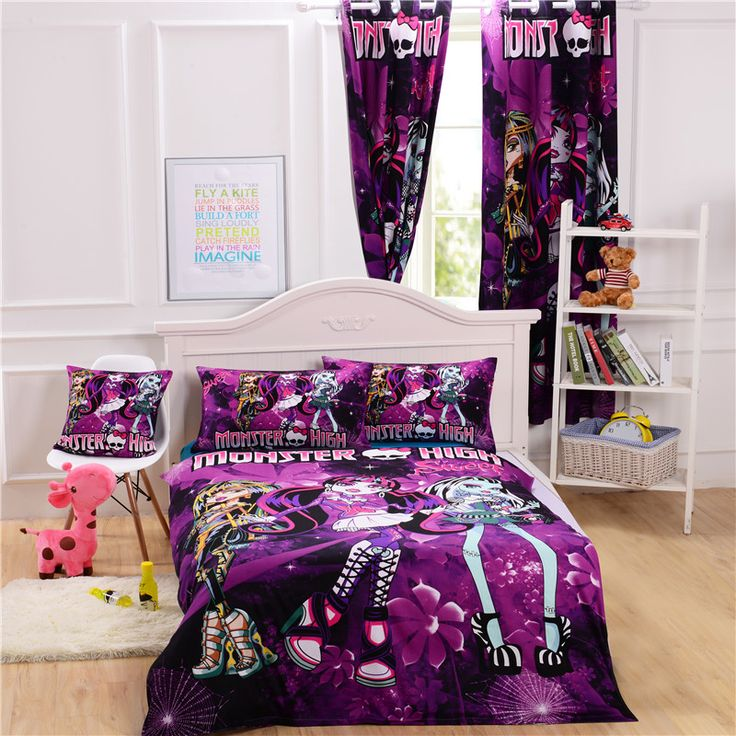 Monster High Bed Cover Monster High Bedding Set For Kids Monster High  Bedding Sets Purple Cotton Bedding Twin Full Queen Size Wholesale Dropship  | Pinterest ...