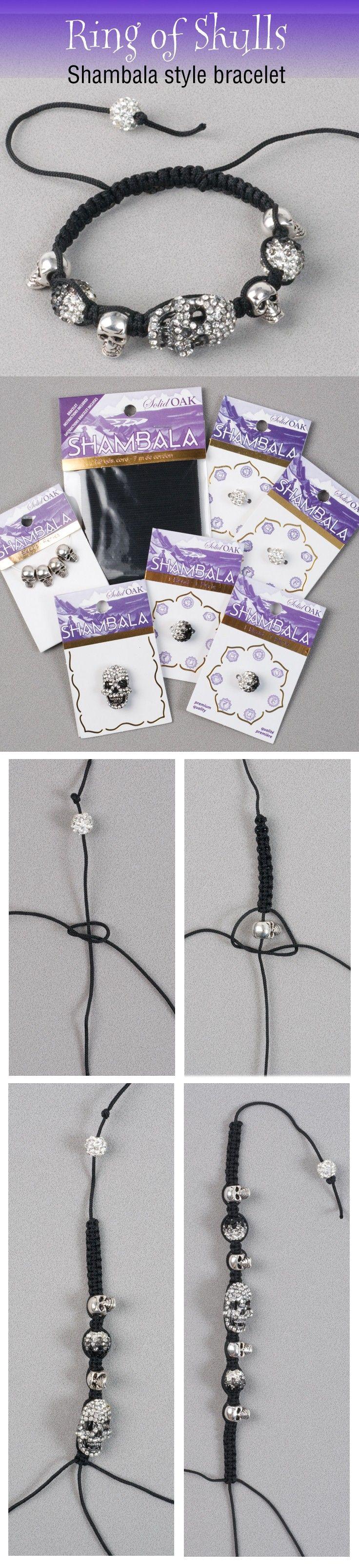 Ring of Skulls Shamabala Style Bracelet DIY
