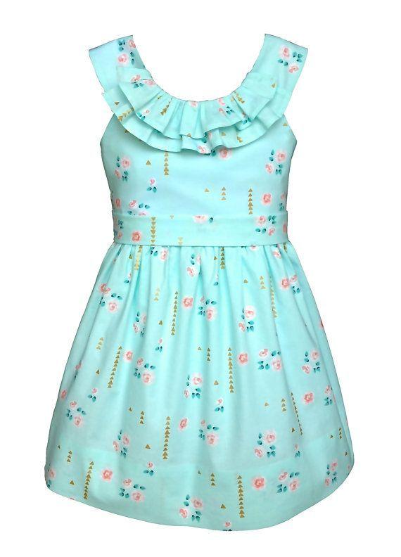 PATRÓN de vestido de las niñas descarga digital por TheFreckledPear