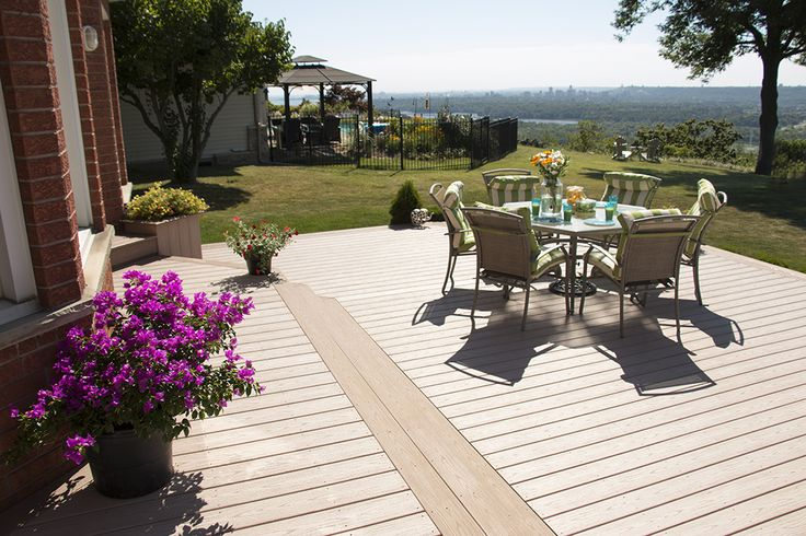 The decking with a view using Veka vinyl decking.