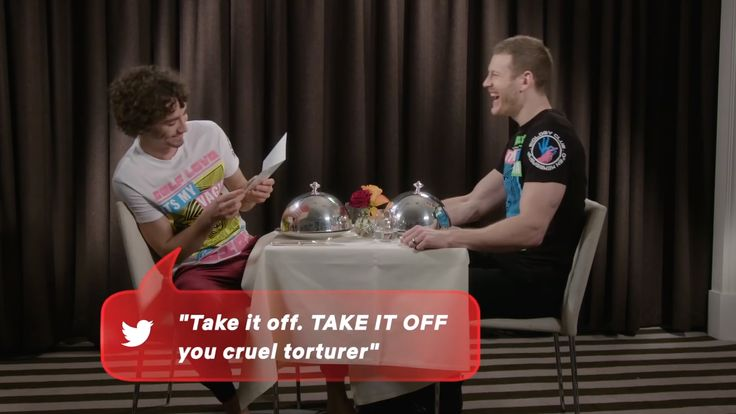 Robert Sheehan And Tom Hopper Read Thirsty Tweets From
