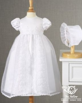 Classic #Baby #ChristeningDress with bonnet