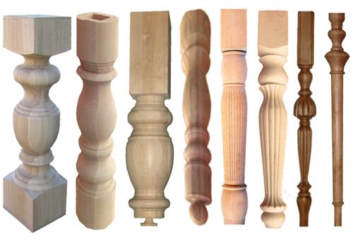 Купить Ножки для столов деревянные фигурные под заказ в Киеве.