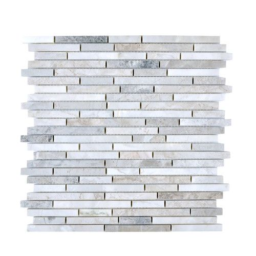 Found it at Wayfair - Random Sized Stone Mosaic Tile in Gray