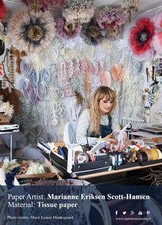 Marianne Eriksen Scott-Hansen: Danish tissue paper artist // artista danese della carta velina