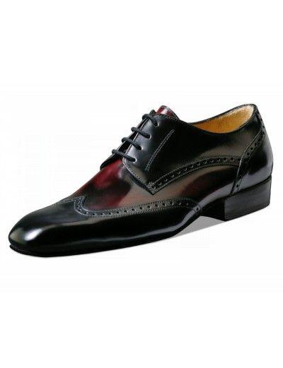 Chaussures de danse noir et bordeaux, Belgrano Nueva Epoca en cuir